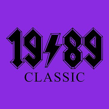 30th Birthday 1989 Classic Rock Gift by ThreadsNouveau