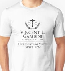 Vincent Gambini Gift, Representing Yutes, Fan Gift, My Cousin Vinny, Law Office of Vincent Gambini Unisex T-Shirt