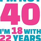 Its My Birthday - 40th Birthday Shirt by wantneedlove