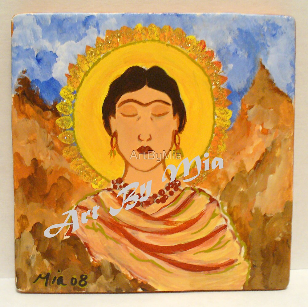 Frida in Meditation by ArtByMia