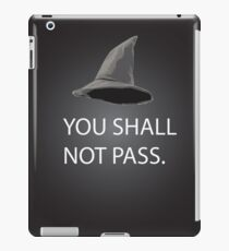 shall not pass iPad Case/Skin
