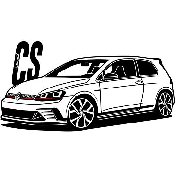 Golf Mk7 GTI ClubSport Best Shirt Design by CarWorld