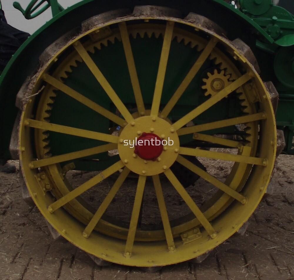 Old Tractor Wheel by sylentbob