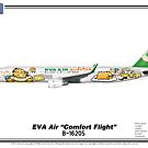 "Airbus A321 - EVA Air ""Comfort Flight"" by TheArtofFlying"