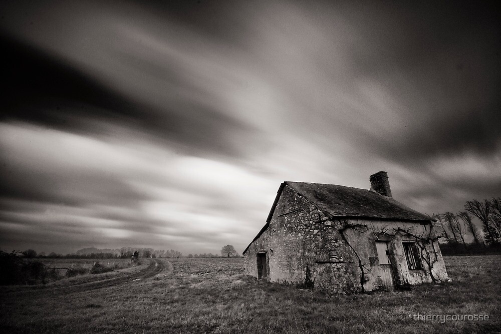 Old countryside little house by thierrycourosse