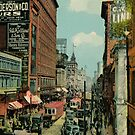 Montreal busy St. Catherine Street 1920s by aapshop