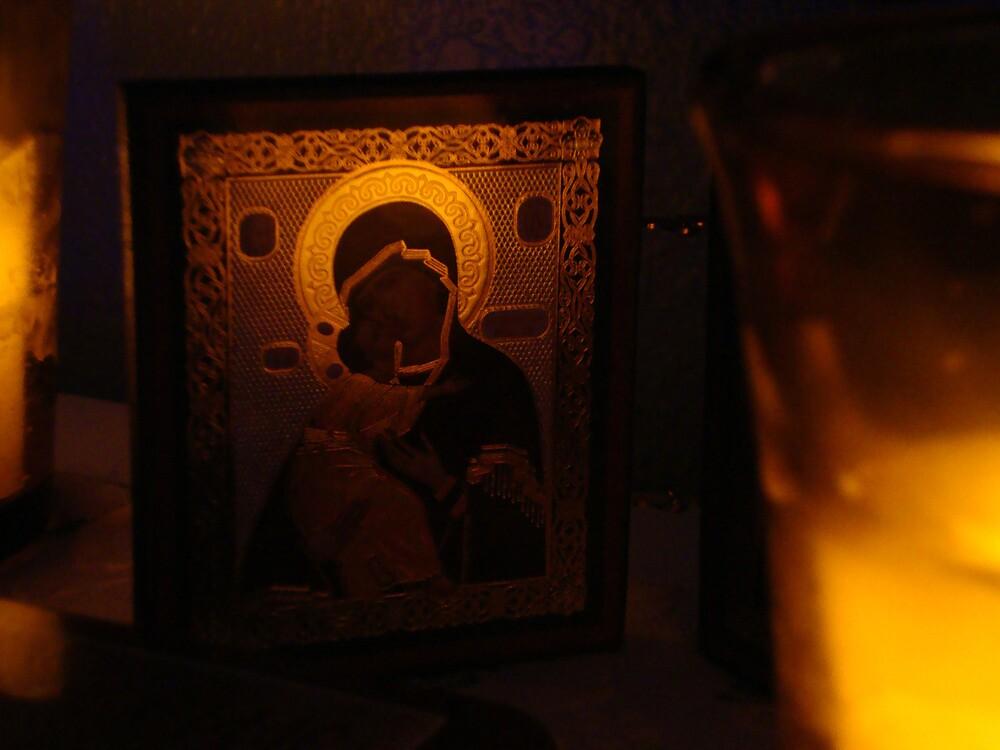 Theotokos Icon by emilycolors