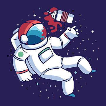 Astronaut Spilled His Drink by Matucho