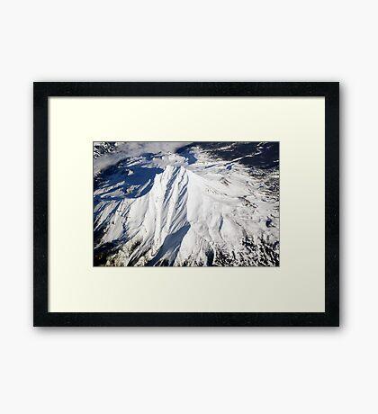 Mt. Bachelor from Above Framed Print