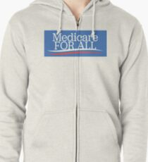 Medicare For All Shirt - Single Payer Healthcare Tee - Healthcare Is A Right Zipped Hoodie