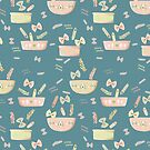 Pasta Pasta - blue by youdesignme
