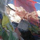 Beyond prayer flags, Annapurna, Nepal. by photoartindia