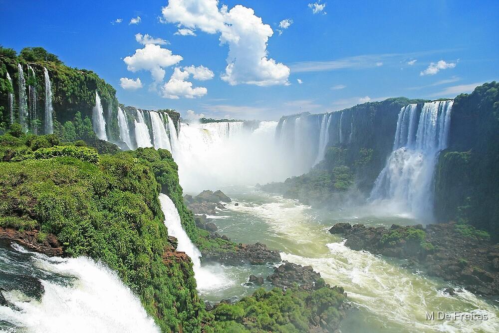 Iguassu Falls - Brazil by M De Freitas