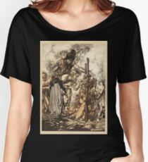 The Rhinegold & The Valkyrie by Richard Wagner art Arthur Rackham 1910 0135 Hey Come Hither Stop Me This Cranny Women's Relaxed Fit T-Shirt