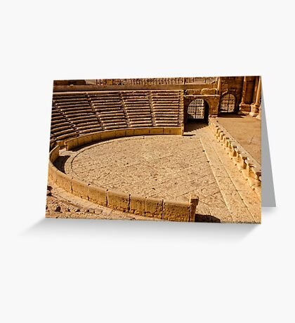 Palmyra the Roman Ampitheater  Greeting Card