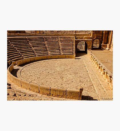 Palmyra the Roman Ampitheater  Photographic Print
