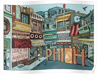 This is teh Top Salling Phish Signed Poster - Bakers Dozen - MSG 2017 - Landland Poster