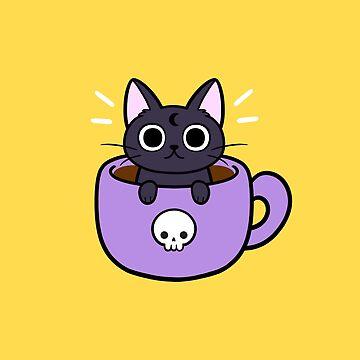 Happy Coffee Cat by nikury