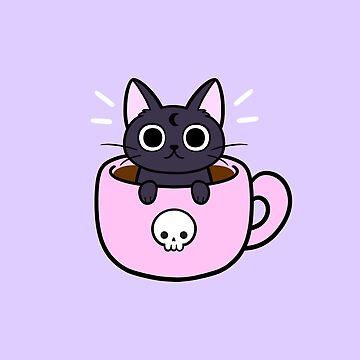 Pastel Coffee Cat by nikury