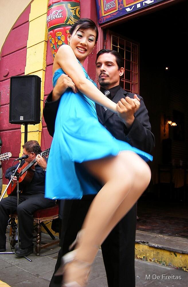 Tango in Boca - Argentina by M De Freitas