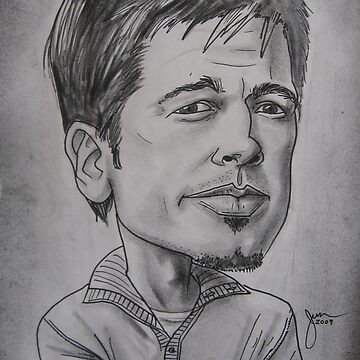Brad Pitt caricature by thalilarsenic