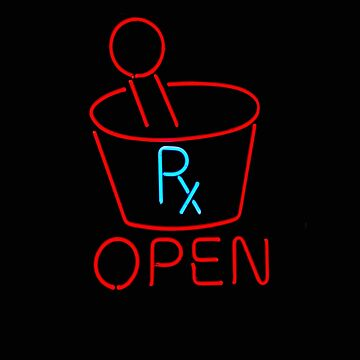 Pharmacy Open Neon Sign Pharmacy Sign by stacyanne324