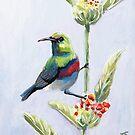 Little green bird by Julie Ann Accornero