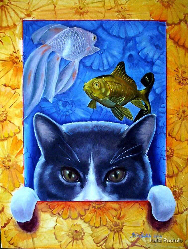 Gennarino the cat by Italia Ruotolo