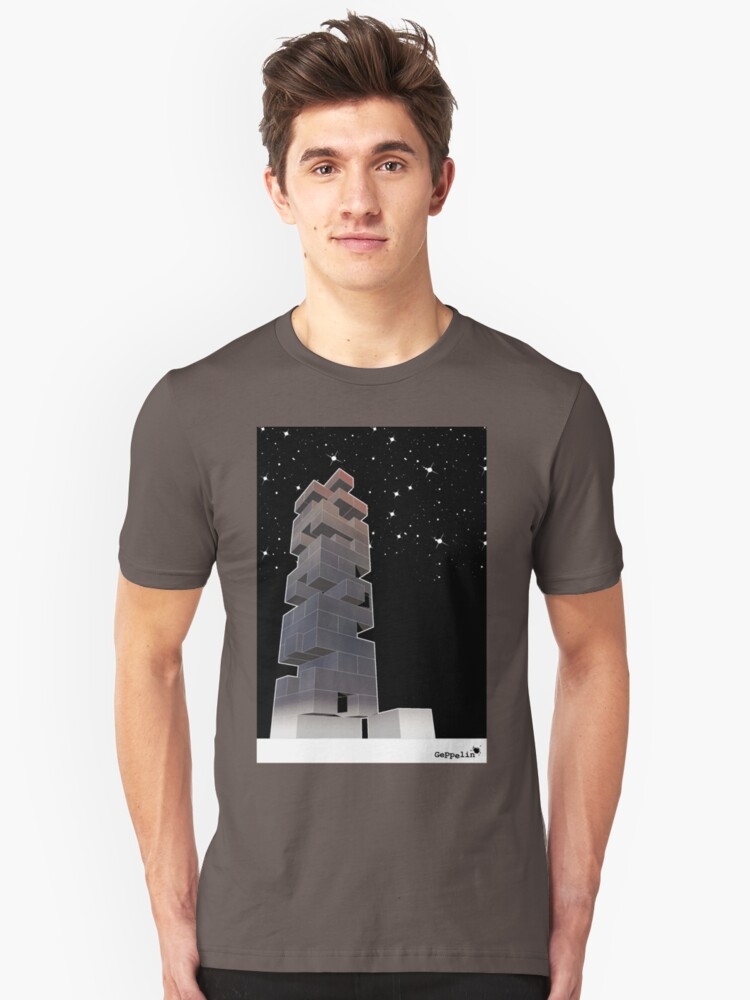 j-building by night Unisex T-Shirt Front