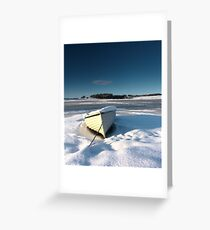 frozen boat Greeting Card