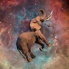 Elephant Floating im Weltraum Low Poly von kennasato