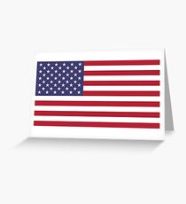 "The national flag of the United States of America -  Authentic 10:19 ""G-spec"" (for ""government specification"" ) Scale and colors Greeting Card"