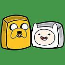 Finn and Jake - Adventure Time Boxheadz by Justin Fidencio