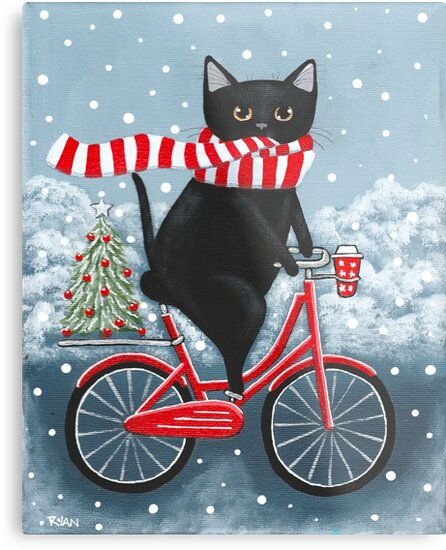Black Cat Winter Bicycle Ride by Ryan Conners