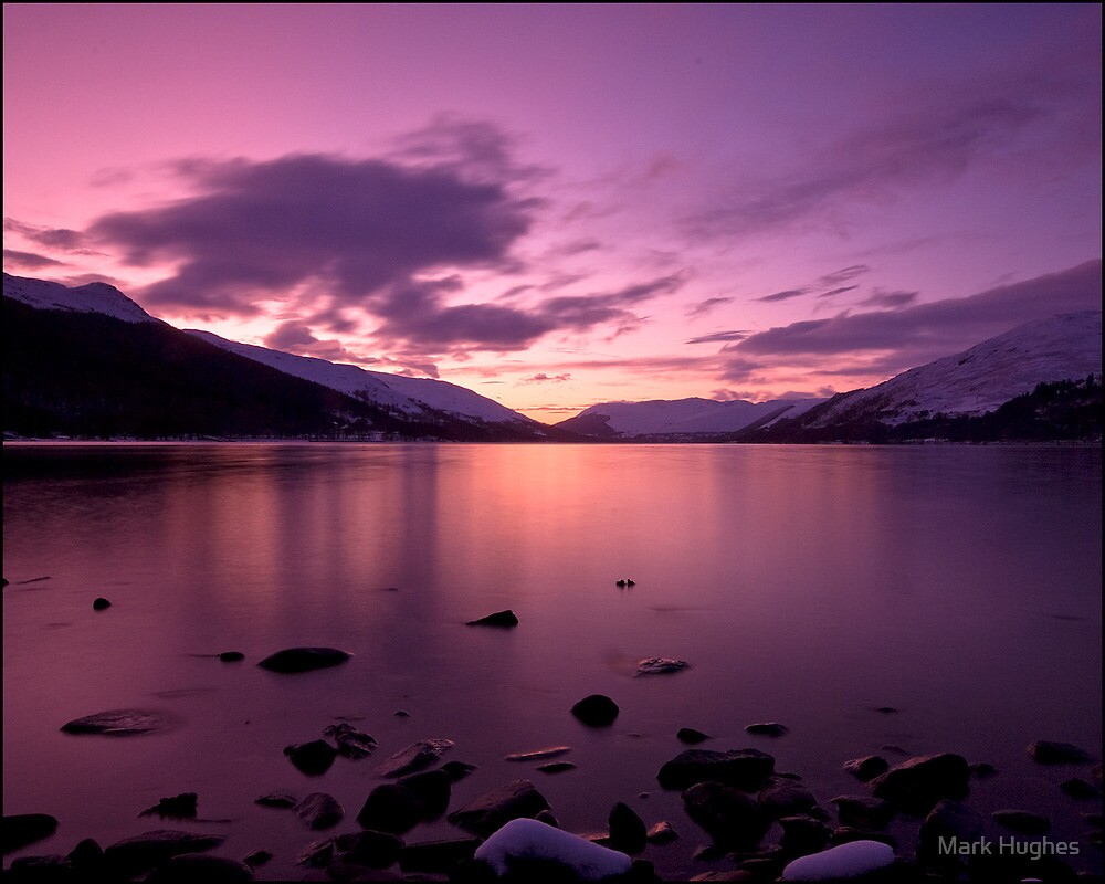 Sunset at Loch Earn by Mark Hughes