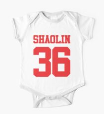 36 Shaolin-Kammern Baby Body Kurzarm
