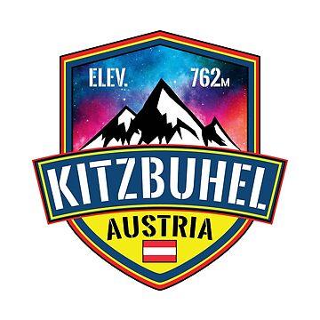 Skiing Kitzbuhel Austria Ski Alps Hahnenkamm by MyHandmadeSigns