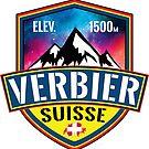 Ski Verbier Suisse Skiing Switzerland by MyHandmadeSigns