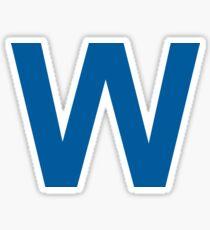 Chicago Blue W Sticker