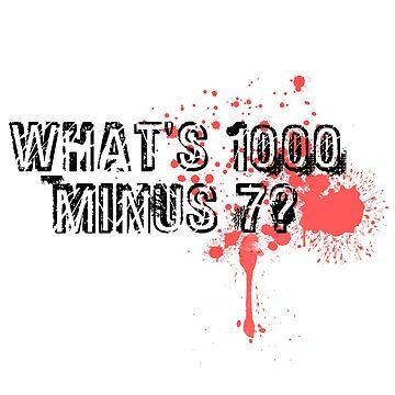A thousand minus seven by Moegilles