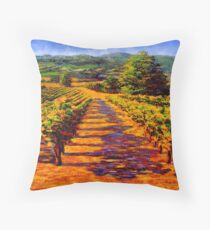 French Provençal Vineyard Throw Pillow
