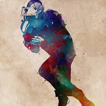American football player #football #sport by JBJart