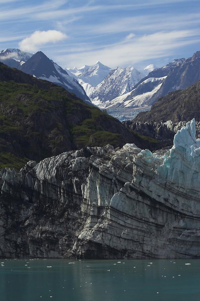 Margerie Glacier Alaska by Melva Vivian