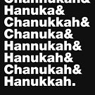 8 Ways to Spell Hanukkah (White Text) by Livali Wyle