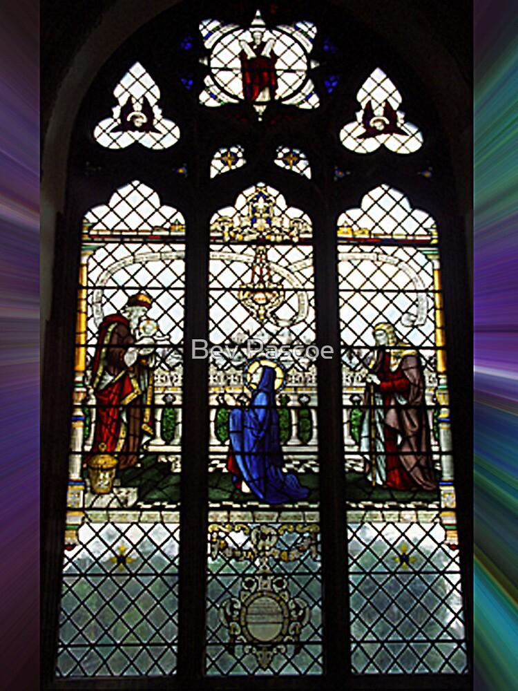 Leadlight Window #3 of Waltham Abbey, Essex,  by Bev Pascoe