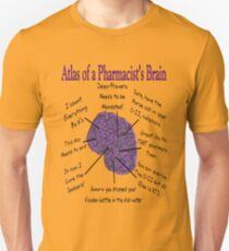 5686c477c Funny Pharmacist's Brain T-Shirt Slim Fit T-Shirt