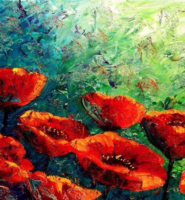 The Poppy Burst by Abstract D'Oyley