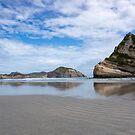 Wharariki Beach. by Anne Scantlebury