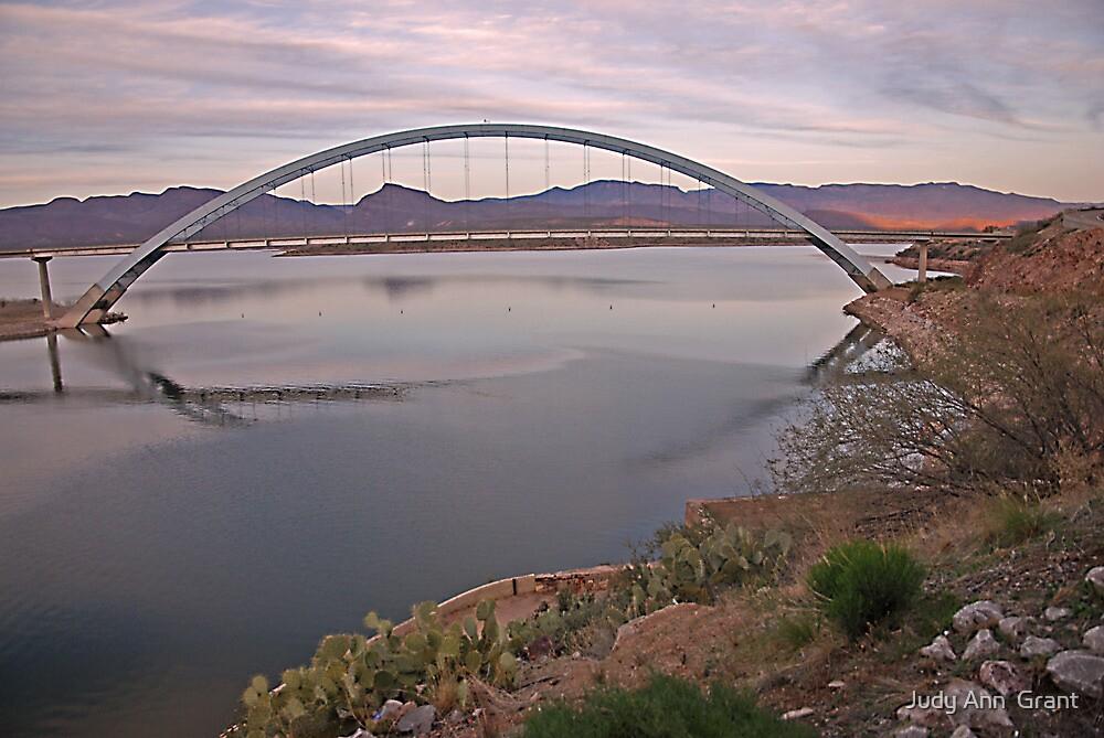Sundown Roosevelt Dam Bridge  by Judy Ann  Grant