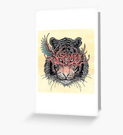 Masked Tiger Greeting Card